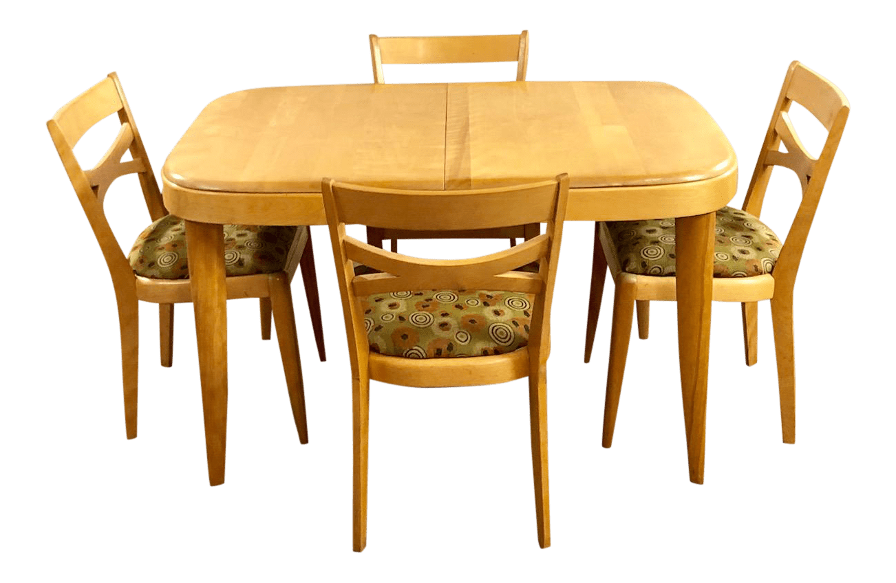 Heywood Wakefield Dining Chairs 1950s Mid Century Modern Heywood Wakefield Dining Set 5 Pieces