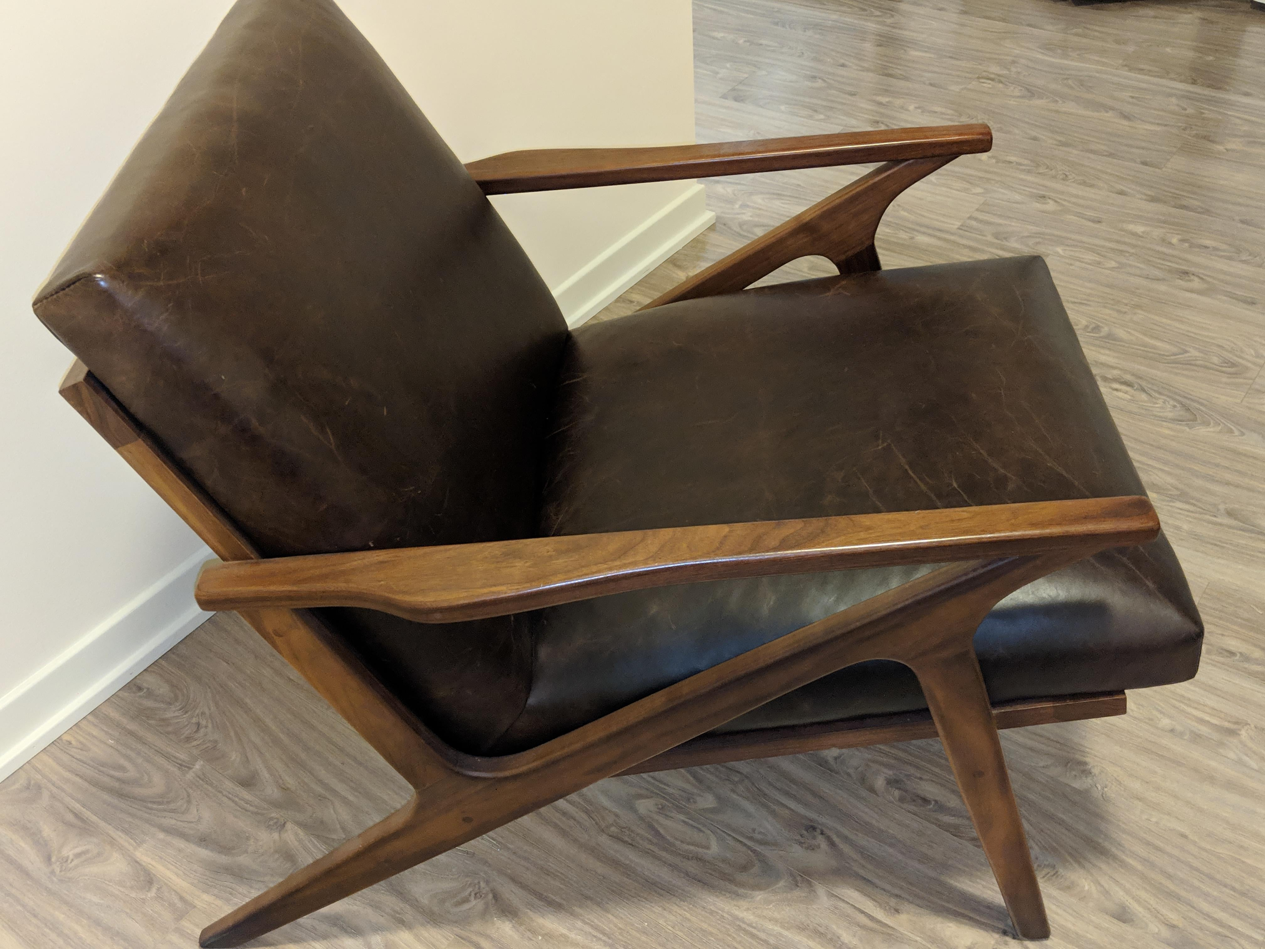 leather directors chair x1 desk crate barrel director chairish fell in love with this the first time i saw it decided to buy