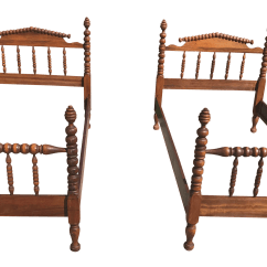 Jenny Lind Rocking Chair High Minnie Mouse Antique Spindle Spool Twin Beds A Pair Chairish