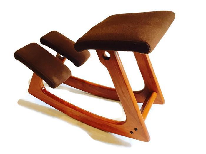 ergonomic chair norway hanging with stand uk balans norwegian mid century teak rocker chairish stool kneeling rocking style by s infamous
