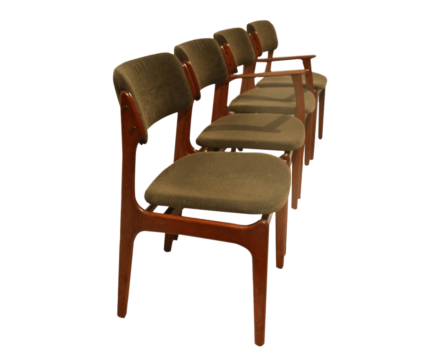 erik buck chairs chair covers singapore gently used buch furniture up to 50 off at chairish for oddense maskinsnedkeri teak dining set of 4