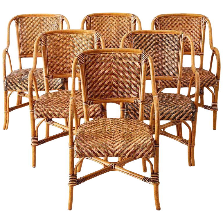 french rattan bistro chairs faux leather chair with ottoman woven style dining chairish for sale