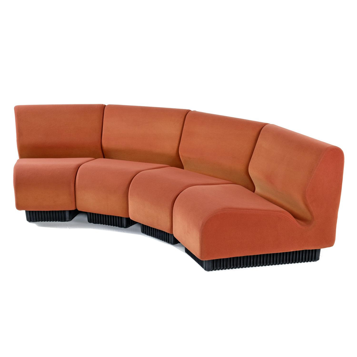 chadwick sofa apartment size sofas with chaise don modular curved wedge sectional couch for herman designed by miller this super comfortable 4 piece