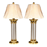 Mid-Century Chrome and Brass Lamps - A Pair | Chairish