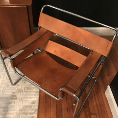 Wassily Chair Brown Leather Old Fashioned Dining Room Chairs Chairish Vintage In The Style Of Designed By Marcel Breuer Good Condition
