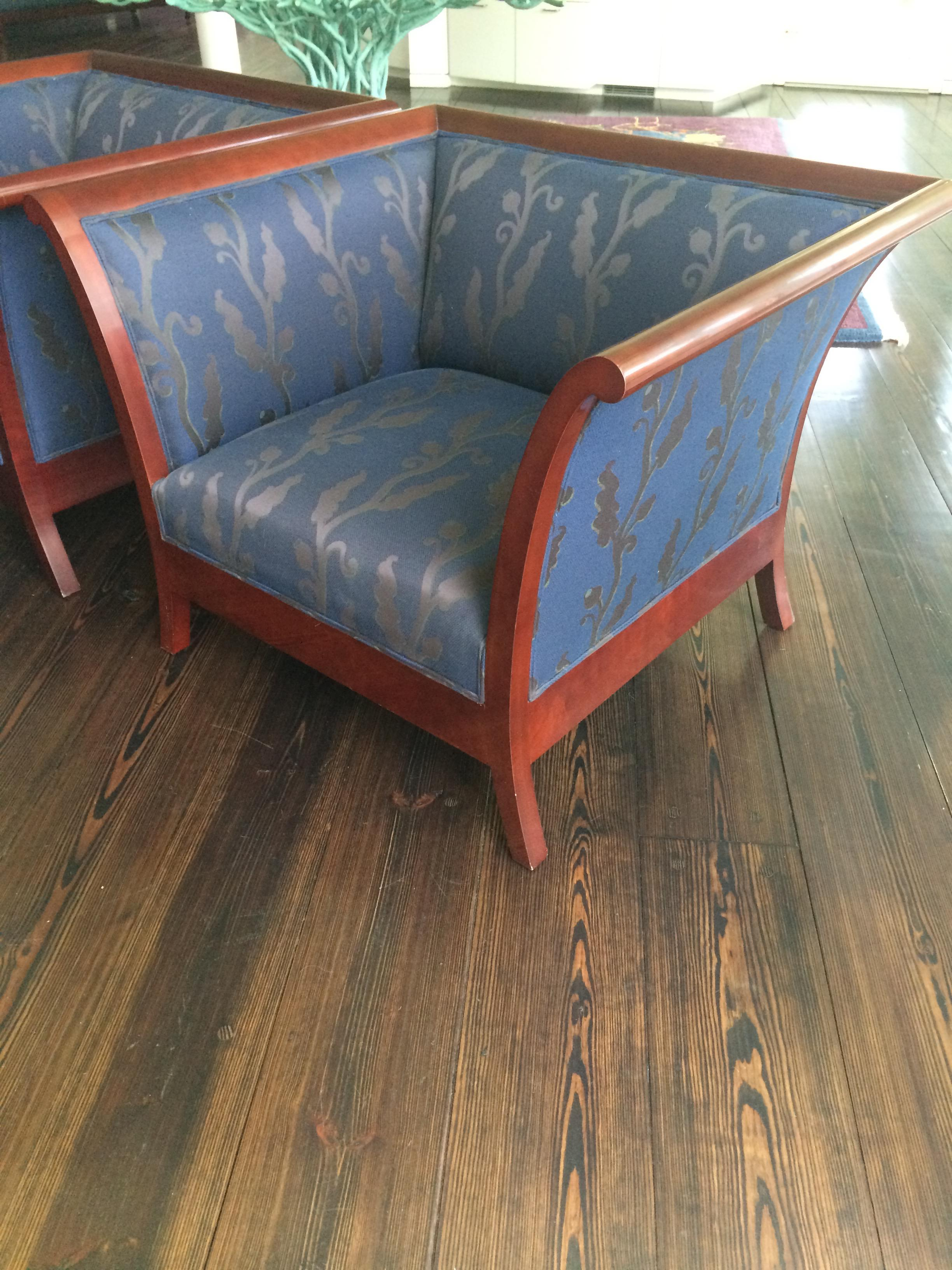 art deco style club chairs chair covers for wingback kenneth winslow a pair chairish sale image 4 of