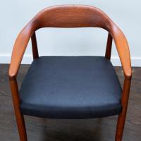 Hans Wegner Round Chair Style Teak Armchair | Chairish