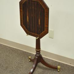 Chair Side Book Stand Butterfly Target Baker Furniture Mahogany Rosewood Inlaid Tilt Top Lectern Brown Table For Sale
