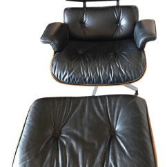 Black Eames Chair Hanging Stand Cheap Gently Used Furniture Up To 60 Off At Chairish 1980s Vintage Herman Miller And Ottoman