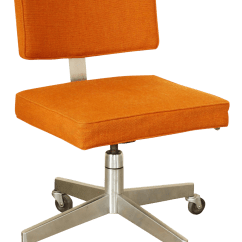 Desk Chair Made And A Half Rocker Canada Mid Century Modern Upholstered Rolling Chairish For Sale