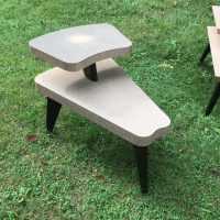 Vintage Atomic Coffee Table & End Tables - Set of 4 | Chairish