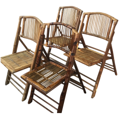 Bamboo Chairs For Sale Outdoor Folding Canada Early 18th Century Vintage Set Of 4 Chairish In Miami
