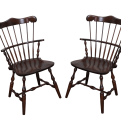Unfinished Windsor Chairs Outdoor Bar Chair Covers S Bent Bros Solid Maple A Pair Chairish