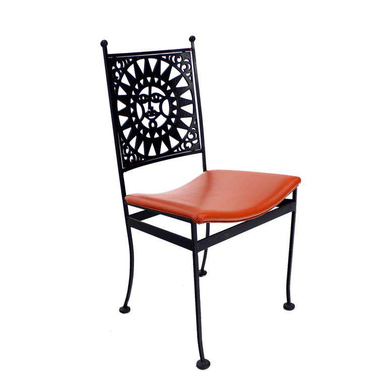 modern steel chair design sit me up baby fine heavy with sunburst mid century decaso for sale image 10