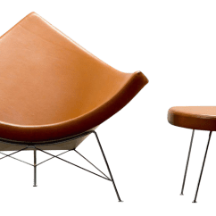 Herman Miller Chairs Vintage How To Make Cheap Chair Covers For Folding Gently Used Furniture Up 60 Off At Chairish 1950s George Nelson Coconut And Ottoman