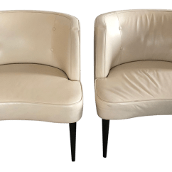 White Leather Chairs For Sale High Chair Mat Contemporary Room And Board Chloe Chairish