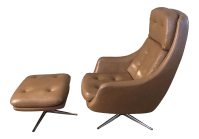 Mid-Century Overman Lounge Chair & Ottoman | Chairish