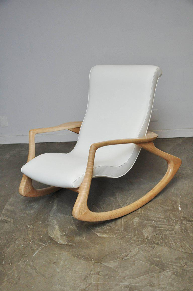 vladimir kagan rocking chair yankee stadium chairs sophisticated erica with rare maple frame circa 1960s
