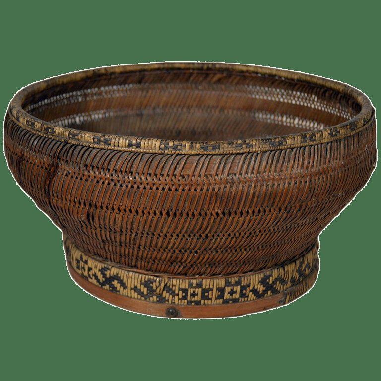 exquisite antique handwoven cane