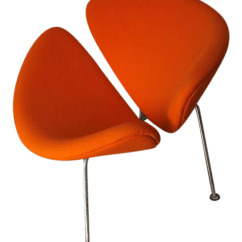 Orange Slice Chair Wing Chairs Slipcovers Pierre Paulin Chairish