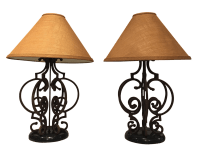 Rustic Wrought Iron Table Lamps