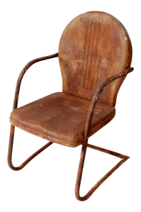 Mid-Century Metal Patio Chair   Chairish