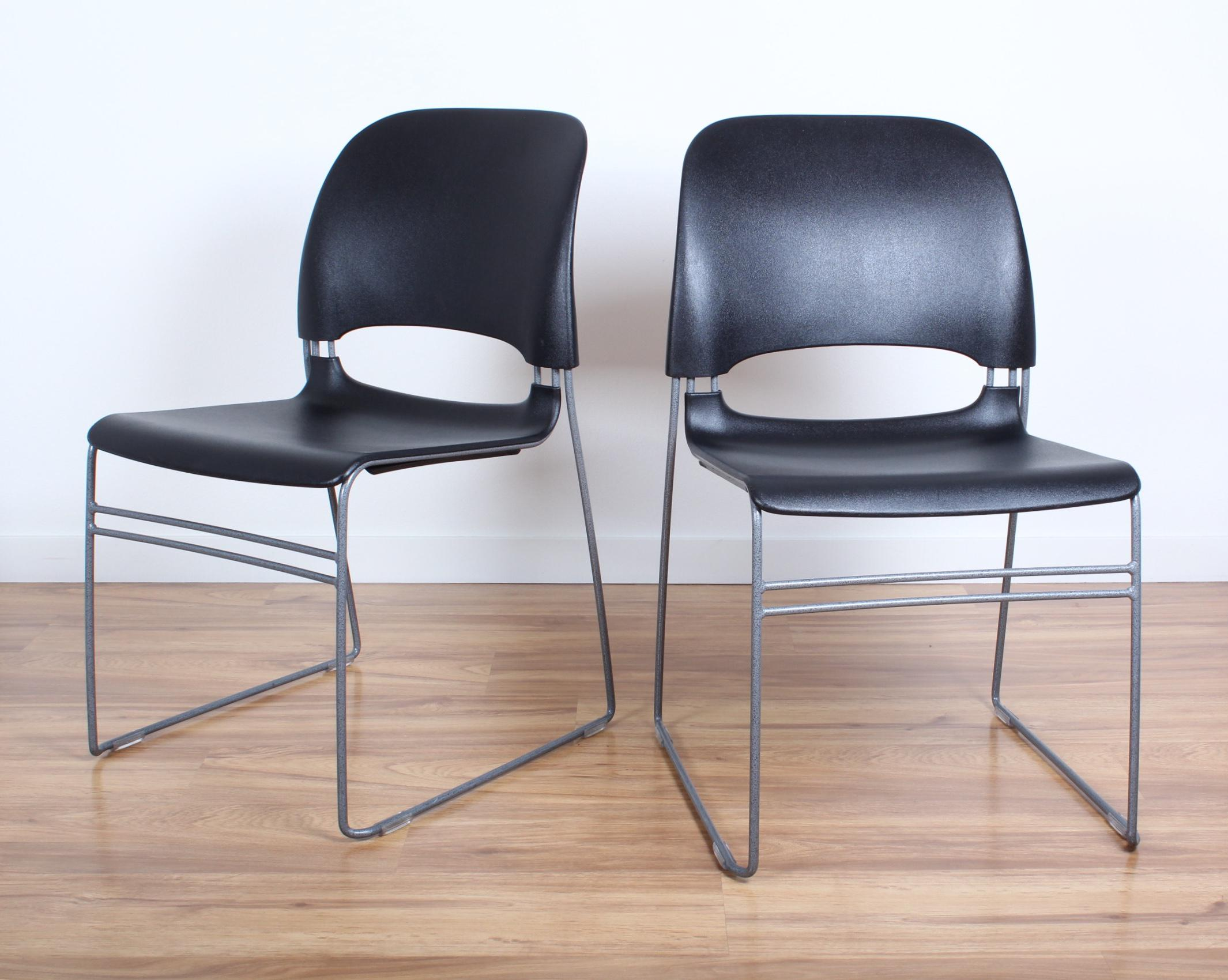 herman miller stacking chairs swopper chair review tom newhouse for limerick a pair modern sale image