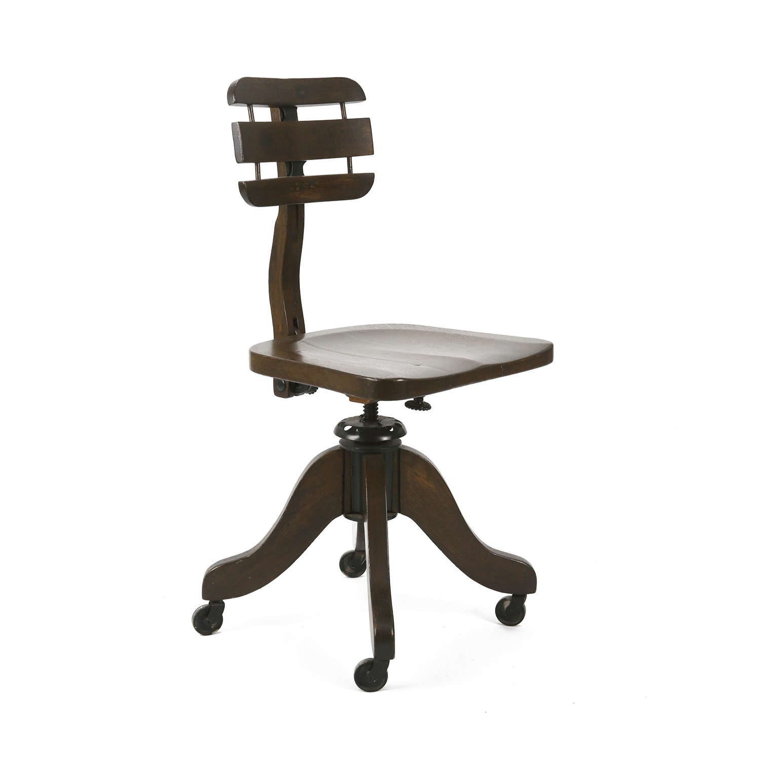 desk chair made barber chairs for sale used early 1900s antique cook chairish offered is an wooden by co in cambridge