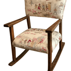 Kids Upholstered Rocking Chair Linen Covers For Weddings 1990s Children S Chairish Sale