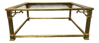 Vintage Mastercraft Brass Coffee Table | Chairish