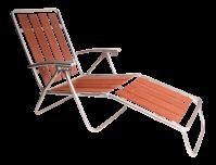 Mid Century Redwood Aluminum Folding Chaise Lounge Chair ...