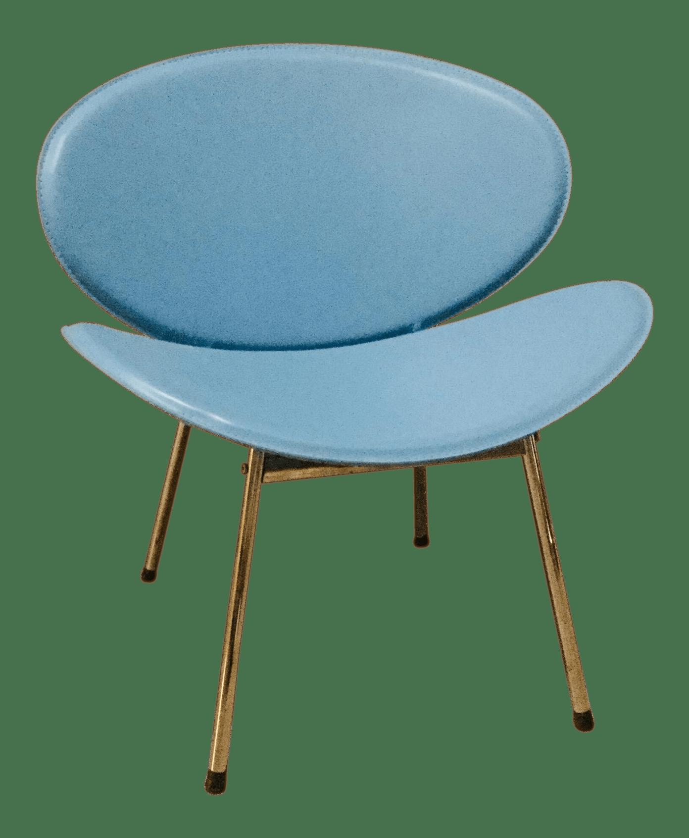 orange slice chair office staples mid century turquoise vinyl lounge chairish for sale