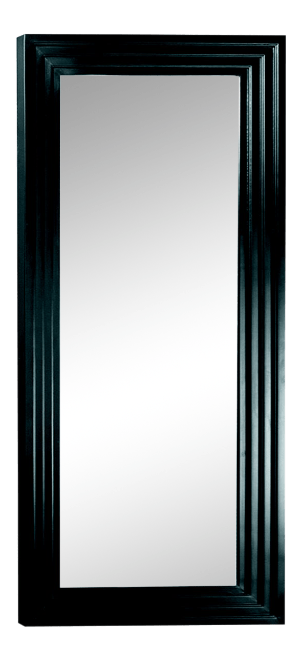Arnaud Matte Black Solid Wood Full Length Floor Mirror