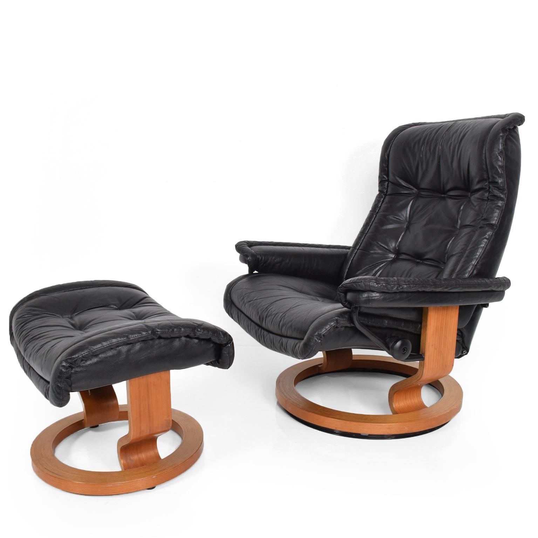 recliner vs chair with ottoman posture australia superb vintage scandinavian modern ekornes stressless for sale image 11 of