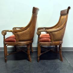 Drexel Heritage Chairs Hon Ignition 2 0 Chair Review Rattan Bamboo Club Pair Chairish 1970s For Sale Image 5 Of 13