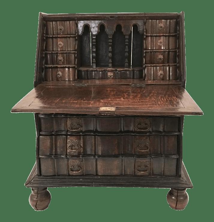 colonial wingback sofas fundas para en leon fine 19th century dutch slant lid desk and chest ...