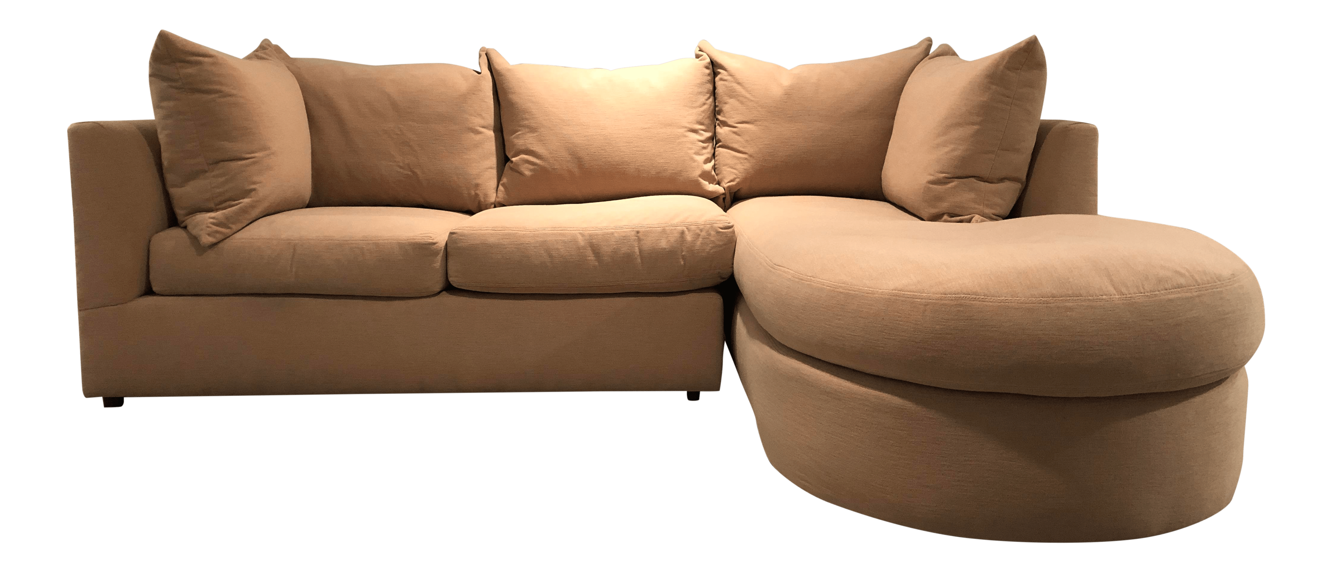 sectional sofa purchase colorado leather modern kreiss collection two piece chairish for sale