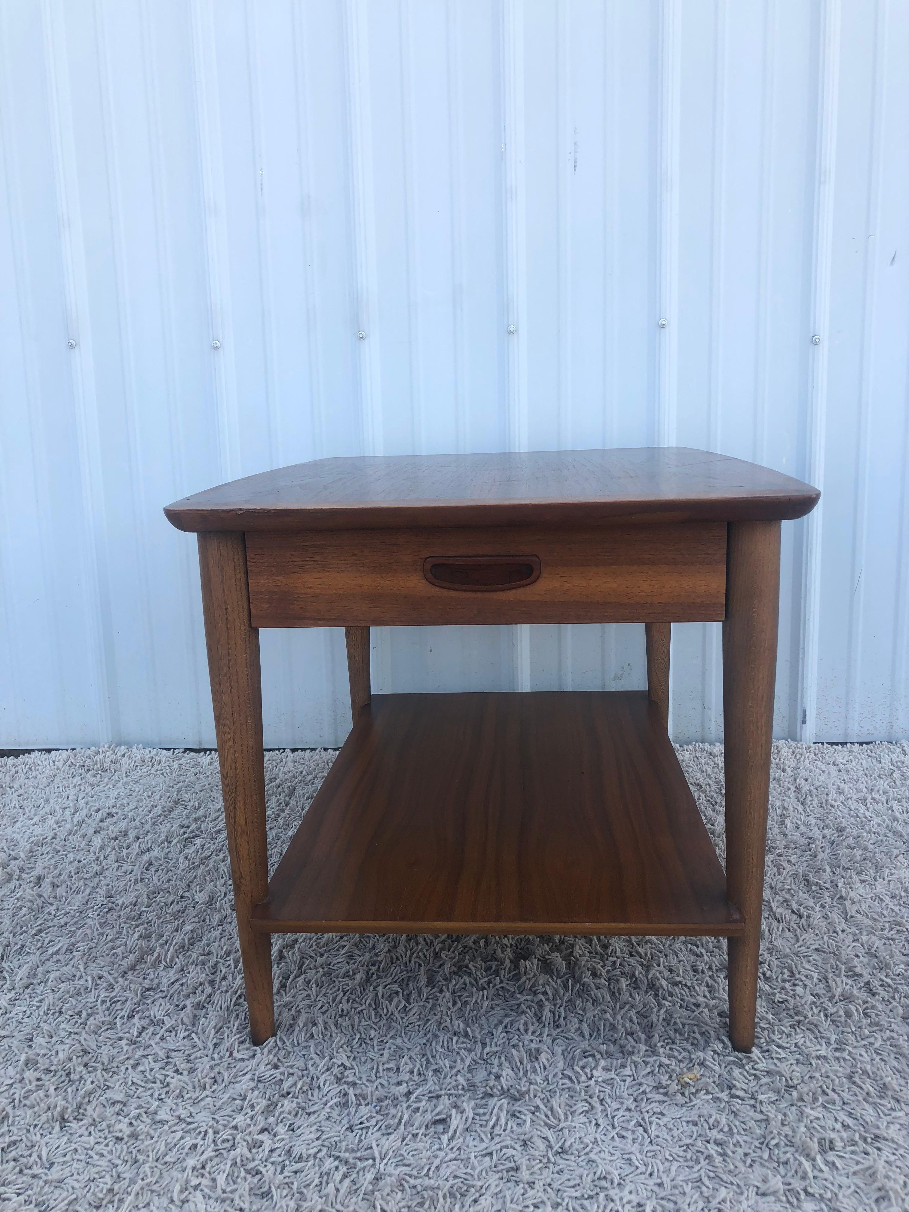 mid century modern end table by lane furniture