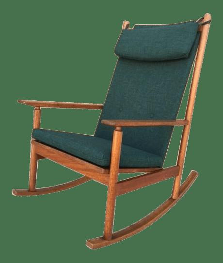 danish modern rocking chair distressed white dining chairs vintage used chairish hans olsen