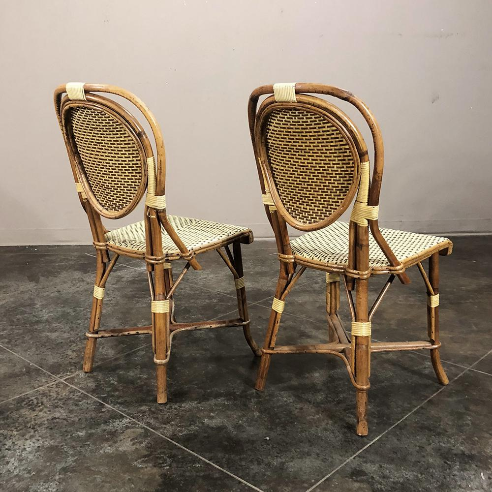 bamboo chairs for sale comfy computer chair superb set of 10 mid century rattan faux decaso image 4