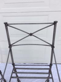 Neoclassical Iron Table & Chairs   Chairish