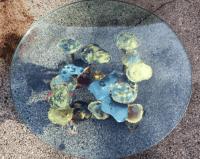 Silas Seandel Brutalist Lily Pad Coffee Table | Chairish