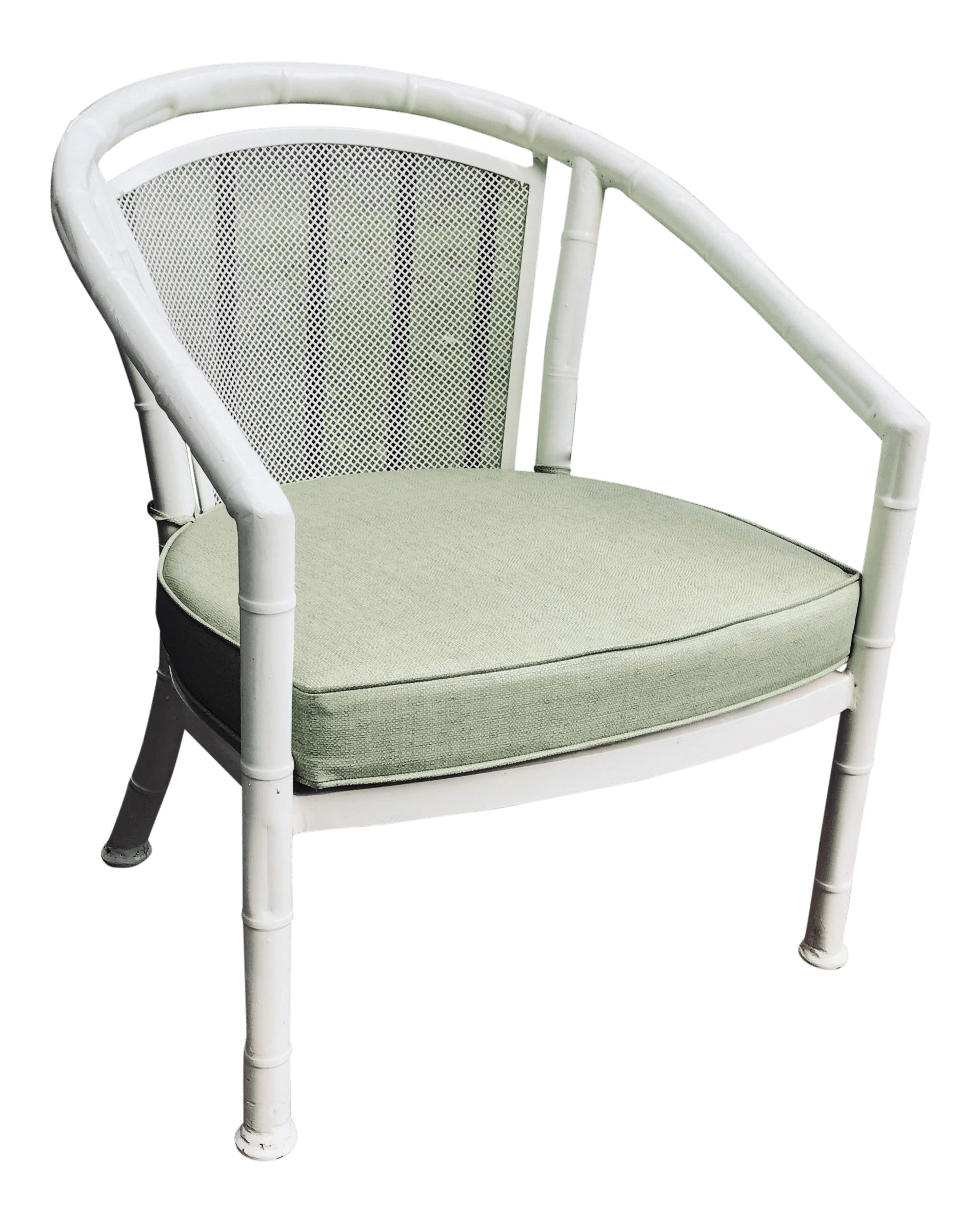 vintage meadowcraft patio faux bamboo barrel chair