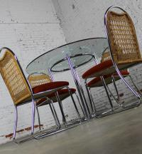 Daystrom Mid-Century Glass & Chrome Table With Chrome ...