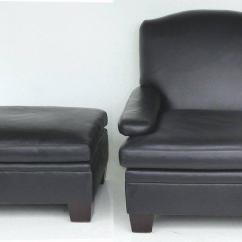 Black Leather Club Chair And Ottoman Swing Hong Kong Superior Ralph Lauren London With Matching 2010s 2 Pieces For Sale