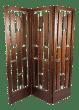 Folding Screen Room Divider In Solid Mahogany Chairish