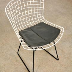 Bertoia Wire Chair Original Covers For Dining Room Chairs Mid Century 1950s Harry Knoll Black White Metal Side With