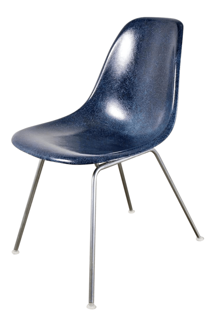 herman miller chairs vintage staples office chair antique designer furniture decaso navy blue eames shell for sale