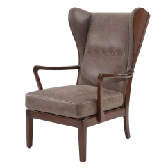 Leather Wing Chairs Chair Cover Express Antique Designer Wingback Decaso Remarkble Scandinavian For Sale