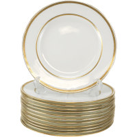 Porcelain Dinner Plates Set Of 12 & Dresden Ambrosius Lamm ...
